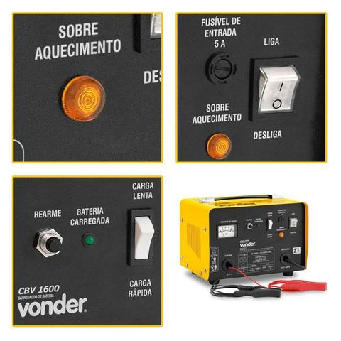 Imagem de Carregador De Bateria Caminhão Cbv1600 Vonder 110v