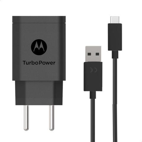 Imagem de Carregador De Parede Motorola Turbo Power 10w Com Cabo Usb-C Preto