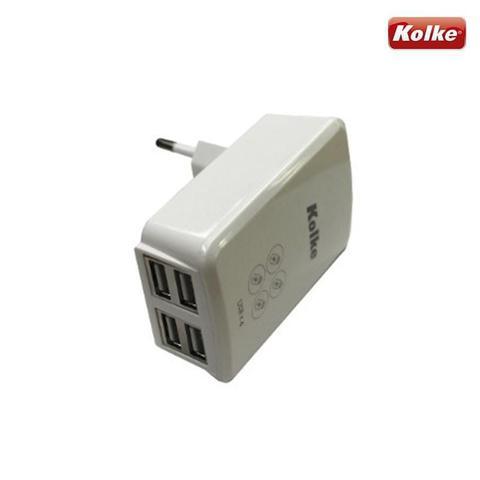 Imagem de Carregador de parede para celular com 4 USB KAN-104 Kolke