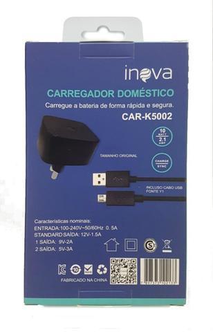 Imagem de Carregador de Parede Turbo Inova K5002 com Cabo Usb CAR-K5002