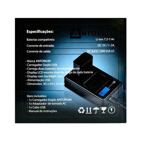 Imagem de Carregador Duplo Antorium p/ baterias LP-E17 Canon T7i T6i SL2