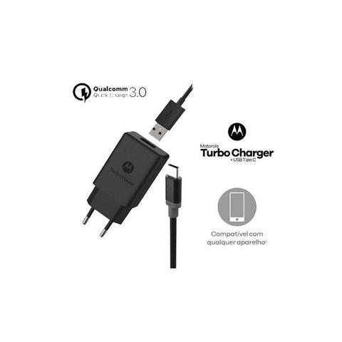 Imagem de Carregador Moto G6 Plus XT1926 TURBO POWER 18W TIPO C Preto