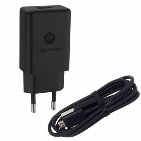 Imagem de Carregador Motorola Turbo Power Micro Usb V8 Moto G3 E4 G4 Plus E5 Play G5 G5s G6 Play Preto m0029