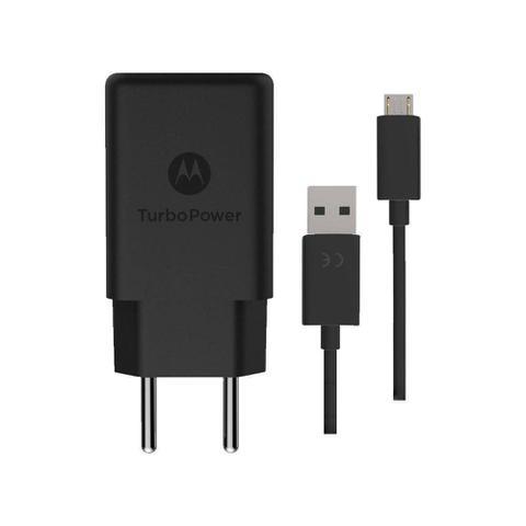 Imagem de Carregador Motorola Turbo Power Micro Usb V8 Moto G3 E4 G4 Plus E5 Play G5 G5s G6 Play Preto m0036