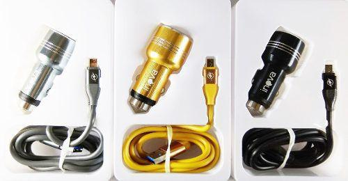 Imagem de Carregador Para Carro V8 Com Duas Usb Inova 3.1a + Cabo Anúncio com variação