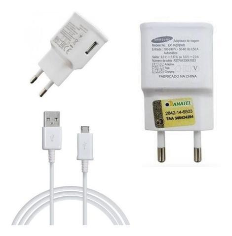 Imagem de Carregador Para galaxy S6 S7 Fast Charge Micro USB  branco