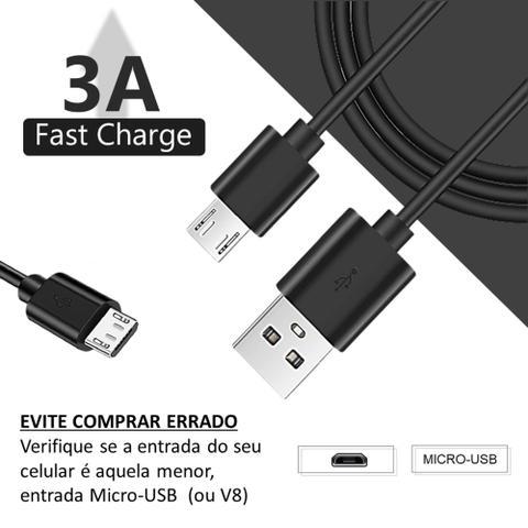 Imagem de Carregador Para Motorola Moto G6 Play Com Cabo Micro-USB 1 Metro Original ZTD - MDYMICRO1M