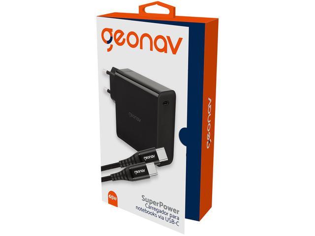 Imagem de Carregador para Notebook Geonav USB-C 65W