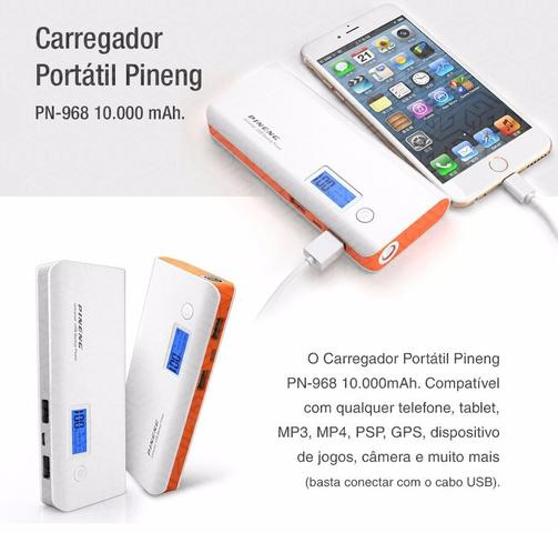 Imagem de Carregador Portátil 10.000 MAh Pineng Compatível com  LG QNote