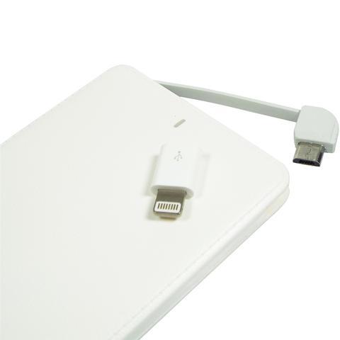Imagem de Carregador Portátil 4000mah Powerbank Usb Adaptador I-phone Branco