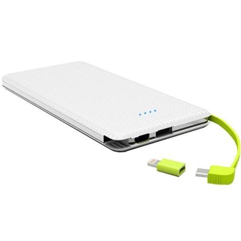 Imagem de Carregador portatil pineng 10.000mah slim branco compativel iphone 7 plus
