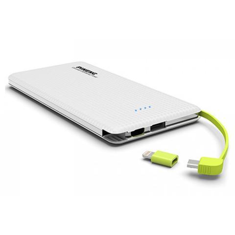 Imagem de Carregador portatil pineng 10000mah slim branco compativel iphone 8