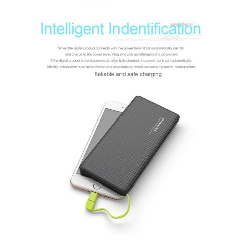 Imagem de Carregador portatil pineng 10000mah slim preto compativel iphone 7 / 7s plus