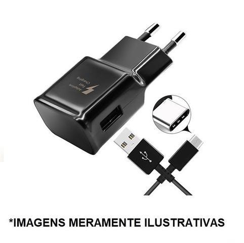 Imagem de Carregador PRETO - TIPO C Compativel Com Galaxy s8,s8 plus, s10, s10 plus