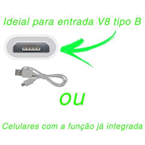 Imagem de Carregador Sem Fio Wireless LT-210 Smartphone Android Receptor V8 Padrão QI Cabo USB Indução Branco