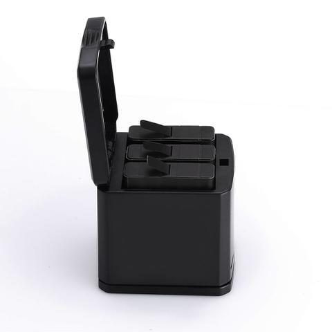 Imagem de Carregador Triplo Para GoPro Hero 5 6 7 Black Telesin Box Design