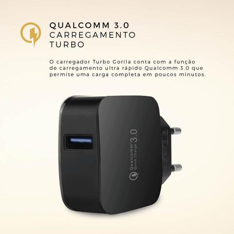 Imagem de Carregador Turbo Fast Charger - Qualcomm 3.0 - Preto - Gorila Shield