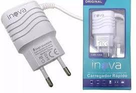 Imagem de Carregador Turbo INOVA para diversos celulares Micro USB Para Moto G5, G5 Plus, E4, E4 Plus, G5s, G5s G6 Plus