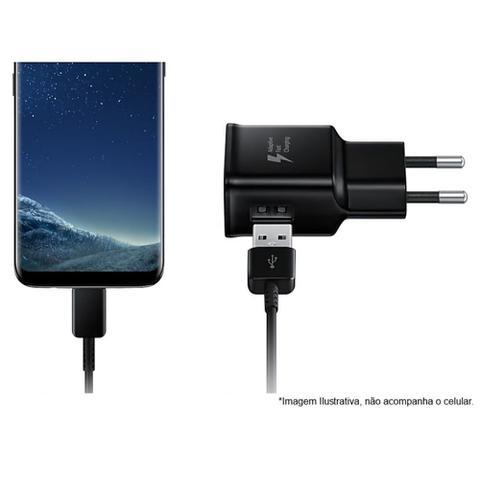 Imagem de Carregador Turbo Samsung Original 15w Galaxy A8 2018 (SM-A530F) Garantia Bivolt Tipo C Fast Charge