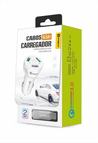 Imagem de Carregador Veicular Turbo Tipo C Branco Sumexr Para Celular Samsung S8, S8 Plus, S9, S9 Plus