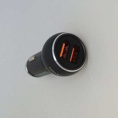 Imagem de Carregador Veicular Ultra Turbo com cabo de metal para Samsung S8