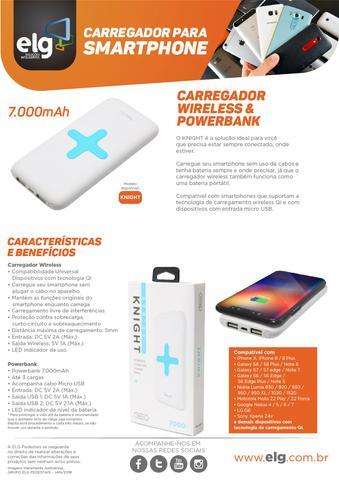Imagem de Carregador Wireless e Bateria Portátil PowerBank 7000mAh