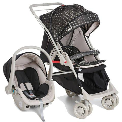Imagem de Carrinho Bebê Reversível Maranello II Preto + Bebê Conforto - Galzerano