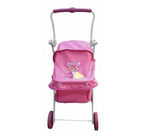 Imagem de Carrinho Berço Shine Princess Para Boneca Brinquedo Reborn - Rosa Escuro