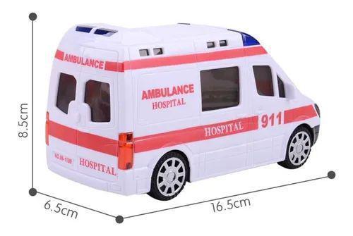 Imagem de Carrinho De Ambulância Eletrônico Com Som Leds Bate E Volta