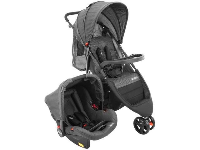 Imagem de Carrinho de Bebê com Bebê Conforto Cosco