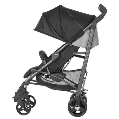 Imagem de Carrinho De Bebê Lite Way 3 Basic Jet Black 5 posições até 15kg - Chicco