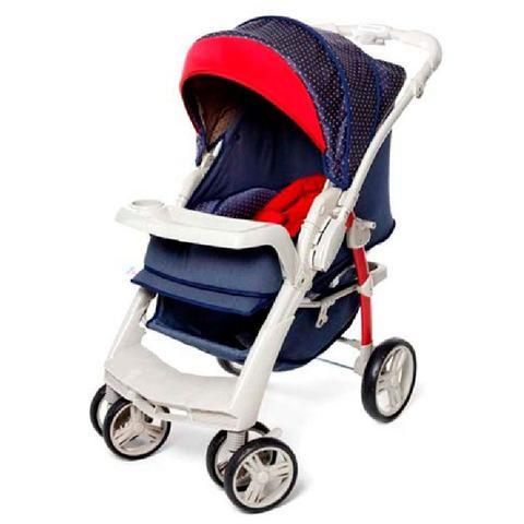 Imagem de Carrinho de Bebê Optimus Galzerano Cor Jeans