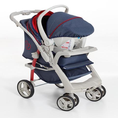 Imagem de Carrinho de Bebê Travel System Optimus Jeans+Base Galzerano