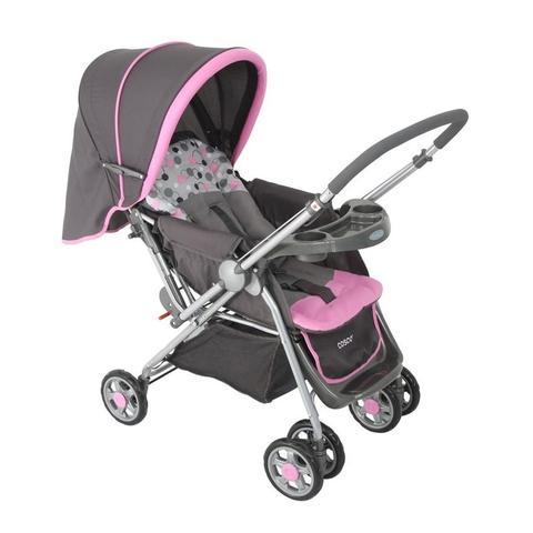 Imagem de Carrinho de bebê Travel System Reverse Cosco Rosa (Carrinho+Bebê Conforto) Dorel