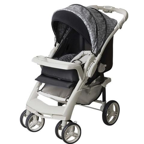 Imagem de Carrinho De Bebê TS Optimus Preto/Cinza com Bebê Conforto - Galzerano