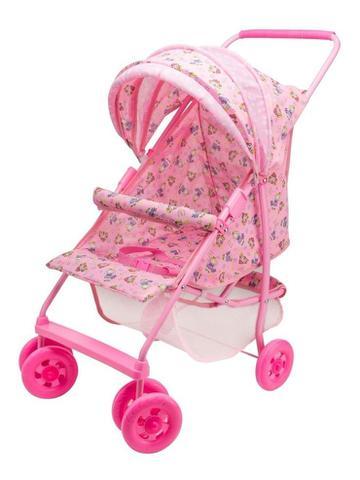 Imagem de Carrinho De Boneca Bebê Milano Luxo Rosa Reborn