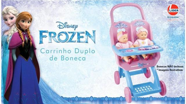 Imagem de Carrinho De Boneca Duplo Princesas Frozen