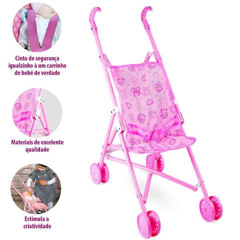 Imagem de Carrinho de Boneca Reborn Bebe Brinquedo Resistente Tam G 7034