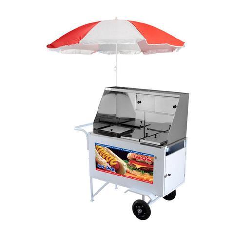 Imagem de Carrinho de Hot Dog e Lanches Com 2 Molheiras Quentes e 4 Cubas Frias