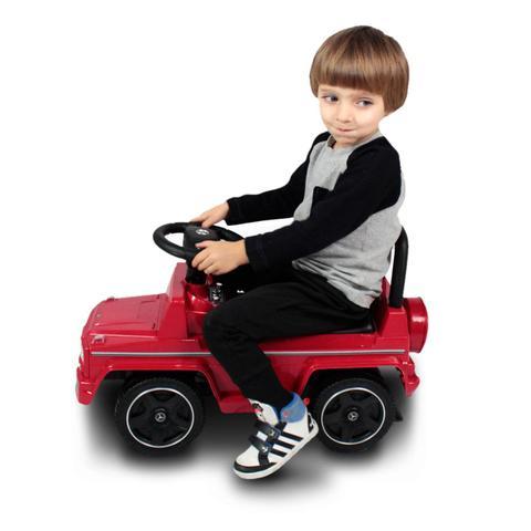 Imagem de Carrinho de Passeio Andador Infantil Mercedes-Benz AMG Vermelho Entrada P2 Toca Musica