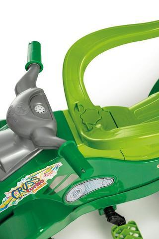Imagem de Carrinho de Passeio Infantil com Empurrador e Pedal Bebê Cross Turbo Verde