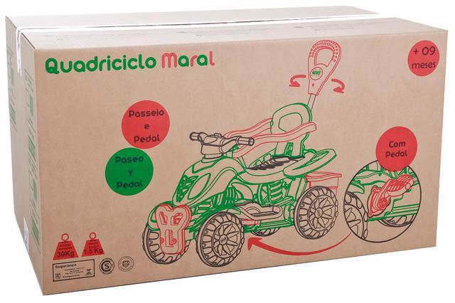 Imagem de Carrinho De Passeio Infantil com Empurrador e Pedal Criança Spider