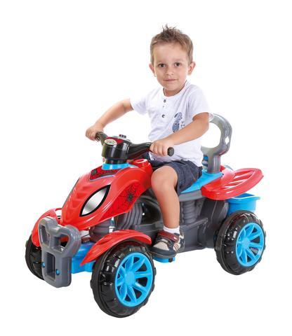 Imagem de Carrinho De Passeio/Pedal Infantil Com Empurrador Criança - Spider - Maral