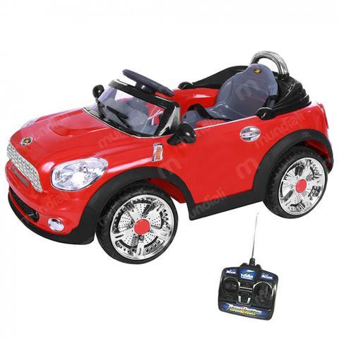 Imagem de Carrinho Eletrico com Controle Remoto 6v Mini Cooper Conversivel Vermelho  Bel