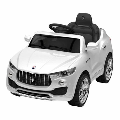 Imagem de Carrinho Elétrico Maserati Carro 6 Volts Branco - Xalingo