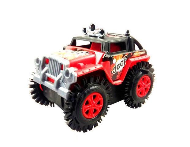 Imagem de Carrinho Maluco Cambalhota Jeep Carrinho Bate E Volta Carro Vermelho infantil