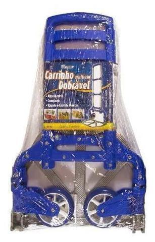 Imagem de Carrinho Mao Dobravel Aluminio Alca Transporte Carga +brinde