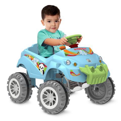 Imagem de Carrinho Smart de Passeio e Pedal - Baby Cross - Azul - Bandeirante