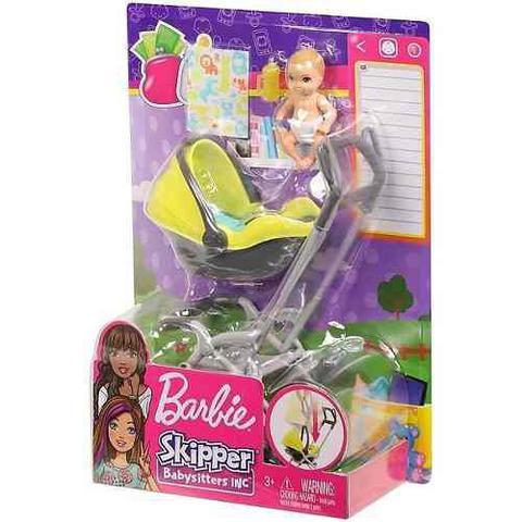 Imagem de Carrinho Stroller E Bebê Barbie Skipper Babysitters Loiro