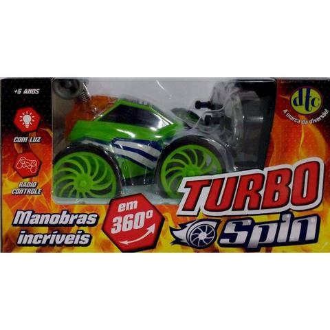 Imagem de Carro Controle Remoto Turbo Spin  Verde  4261 - DTC